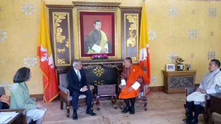 Ambassador Hiramatsu visited Thimphu and Paro (Apr. 11-13, 2017)